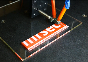 3D Printing is Fun: watch as the Harvard MRSEC logo is 3D printed in two-color wax and silicon.